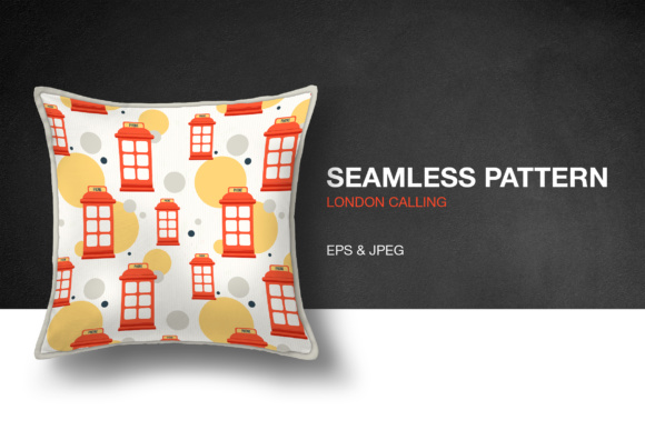 London Calling Seamless Pattern Graphic Patterns By hellokisdottir