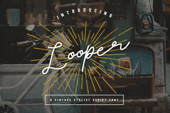 Print on Demand: Looper Display Font By Nurrehmet Studio