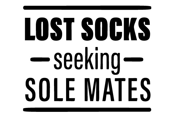 Lost Socks Seeking Sole Mates Laundry Room Craft Cut File By Creative Fabrica Crafts