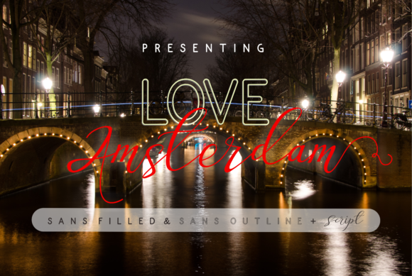Print on Demand: Love Amsterdam Script & Handwritten Font By Malindo Creative