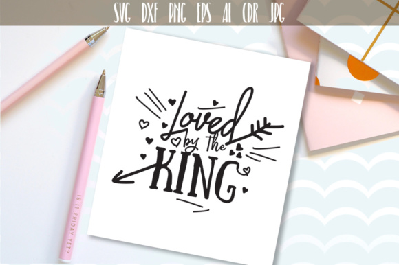 Download Free Loved By The King Graphic By Vector City Skyline Creative Fabrica for Cricut Explore, Silhouette and other cutting machines.