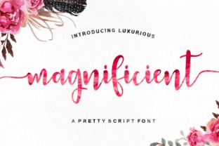 Print on Demand: Magnificient Script & Handwritten Font By Youngtype