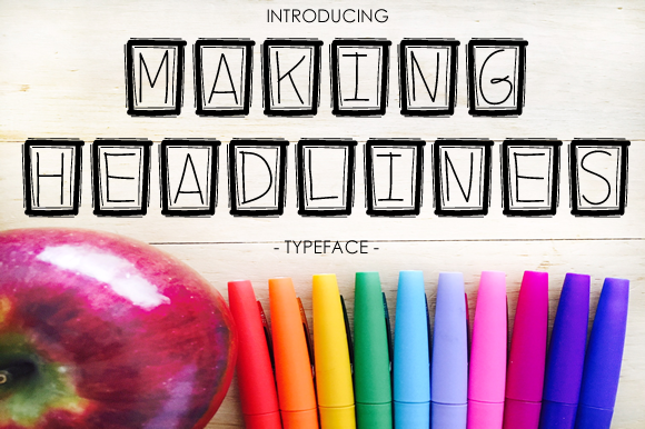 Print on Demand: Making Headlines Decorative Font By yh.seaofknowledge