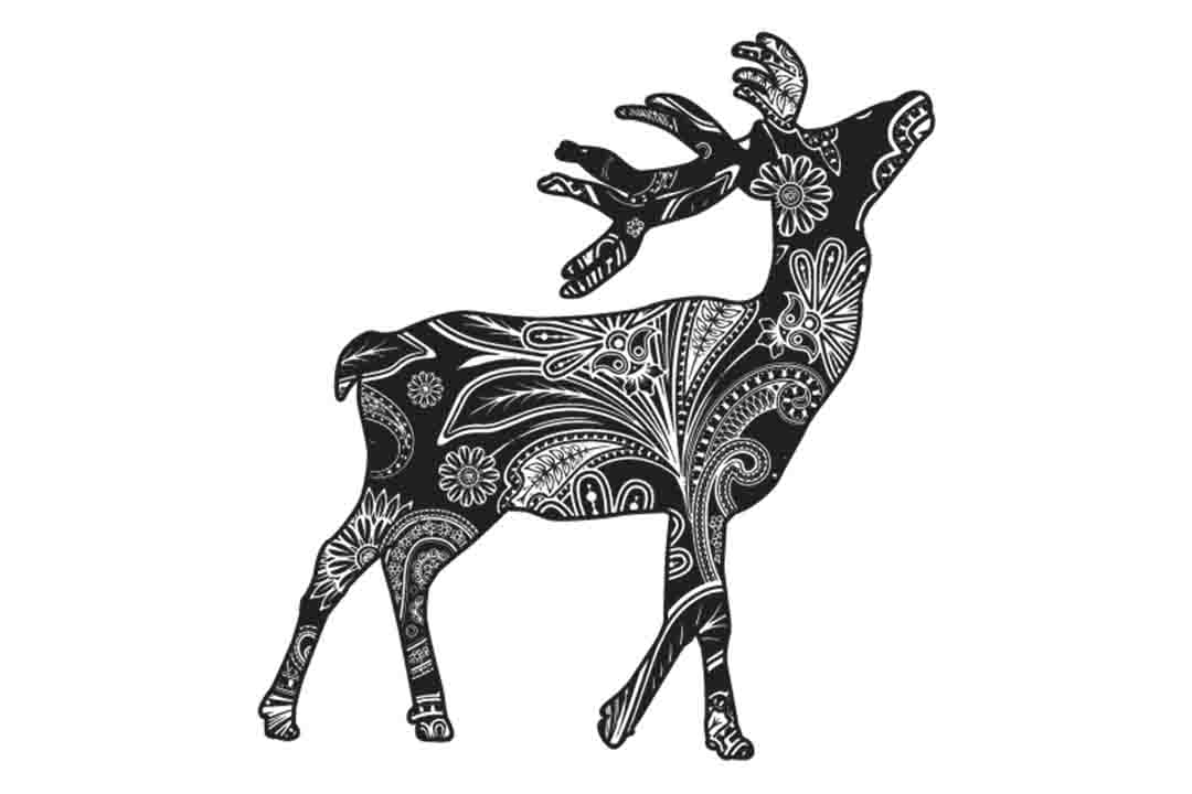 Download Free Mandala Deer Graphic By Twelvepapers Creative Fabrica for Cricut Explore, Silhouette and other cutting machines.