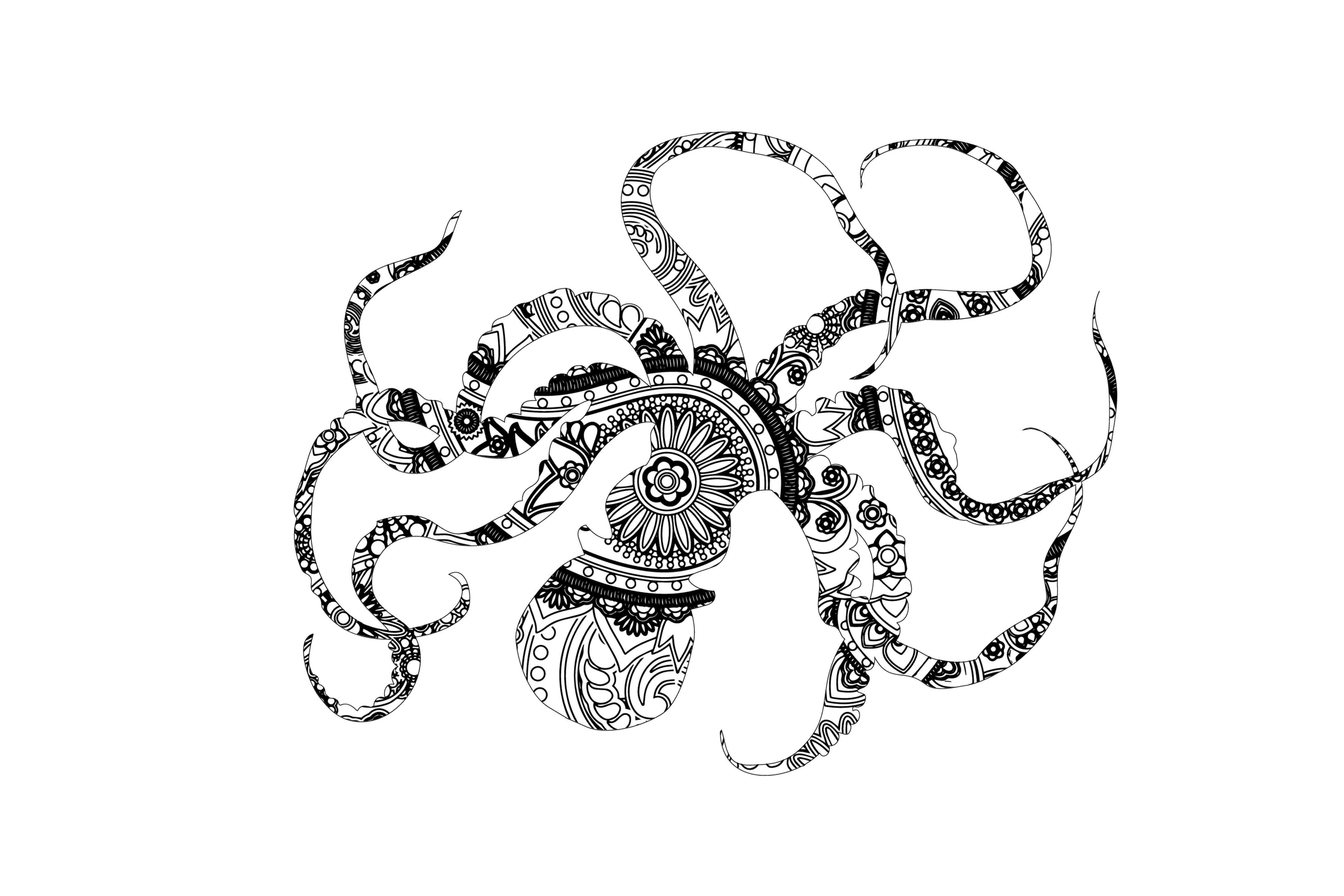 Download Free Mandala Octopus Graphic By Twelvepapers Creative Fabrica for Cricut Explore, Silhouette and other cutting machines.