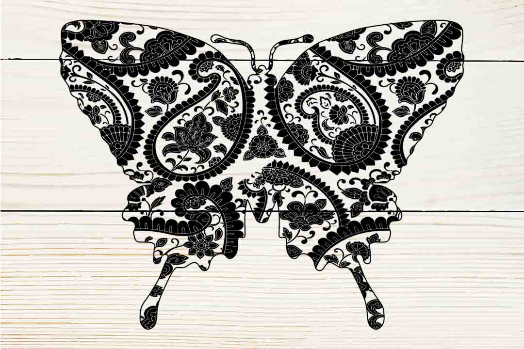 Download Free Mandala Butterfly Graphic By Twelvepapers Creative Fabrica for Cricut Explore, Silhouette and other cutting machines.