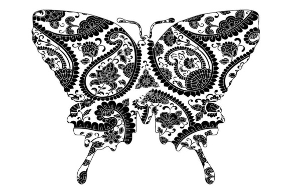 Mandala Butterfly SVG Graphic By twelvepapers Image 2