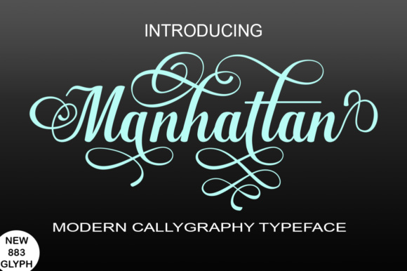 Print on Demand: Manhattan Script & Handwritten Font By bbakey