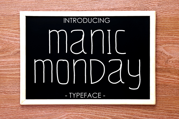 Print on Demand: Manic Monday Script & Handwritten Font By yh.seaofknowledge