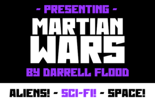 Print on Demand: Martian Wars Display Font By Dadiomouse