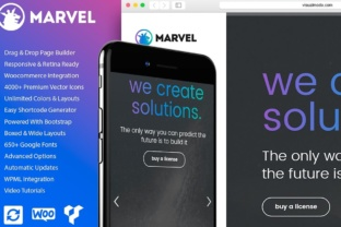Download Free Marvel Vertical Menu Wordpress Theme Graphic By Visualmodo for Cricut Explore, Silhouette and other cutting machines.