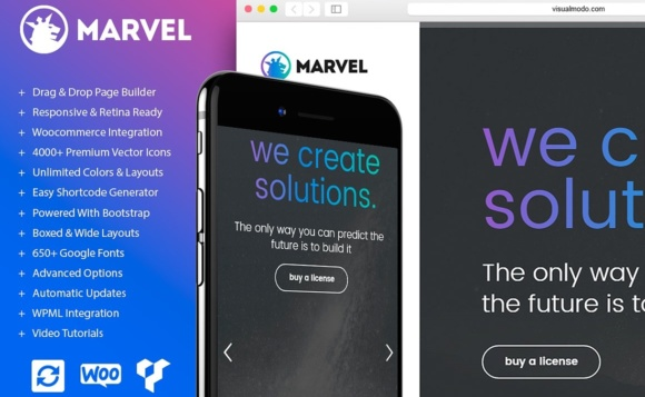 Marvel Vertical Menu WordPress Theme Graphic WordPress By Visualmodo WordPress Themes - Image 1