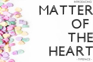 Print on Demand: Matter of the Heart Display Font By yh.seaofknowledge