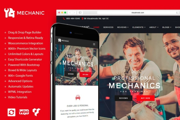 Mechanic WordPress Theme Graphic By Visualmodo WordPress Themes