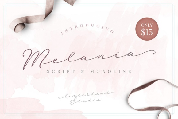 Print on Demand: Melania Script Script & Handwritten Font By letterhend