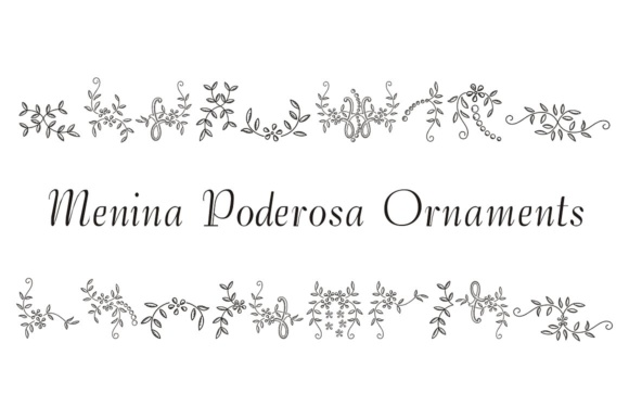Print on Demand: Menina Poderosa Ornaments Dingbats Font By Intellecta Design