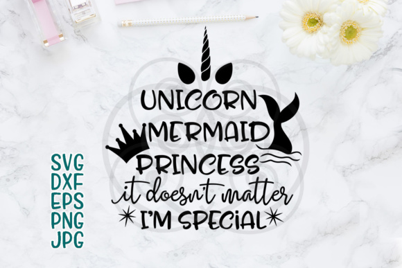 Mermaid Svg, Unicorn Svg, Mermaid Sayings, Mermaid Words, Princess Svg, Sayings, Girl Saying, Prints, Birthday Girl, T-shirt Girl Style Svg Grafik Designvorlagen von Cornelia