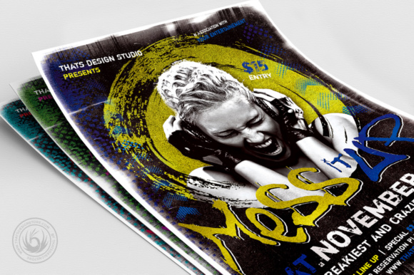 Mess It Up Flyer Template Graphic Print Templates By ThatsDesignStore - Image 5