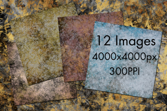 Print on Demand: Metallic Glitter Grunge Backgrounds - 12 Image Set Graphic Backgrounds By SapphireXDesigns - Image 2