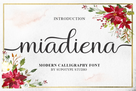 Print on Demand: Miadiena Script & Handwritten Font By supotype