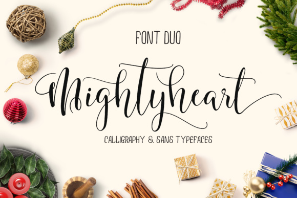Print on Demand: Mighty Heart Script & Handwritten Font By joelmaker