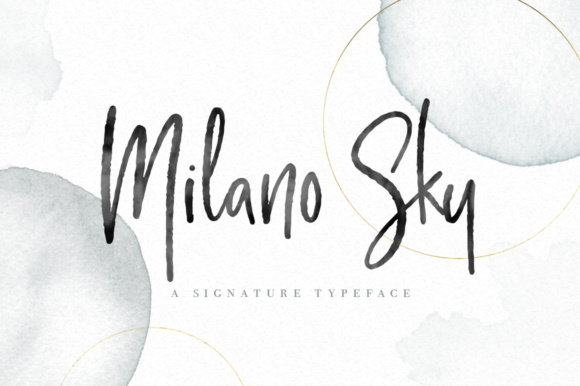 Milano Sky Script Font By By Lef Image 1