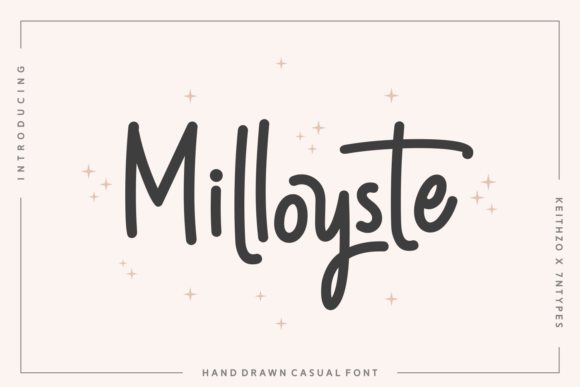 Milloyste Font By Keithzo (7NTypes) Image 1