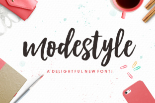 Print on Demand: Modestyle Script & Handwritten Font By Youngtype