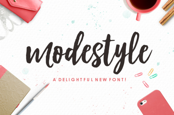 Print on Demand: Modestyle Script & Handwritten Font By Youngtype - Image 1