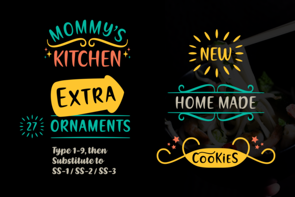 Download Free Mommy S Kitchen Font By Situjuh Creative Fabrica for Cricut Explore, Silhouette and other cutting machines.