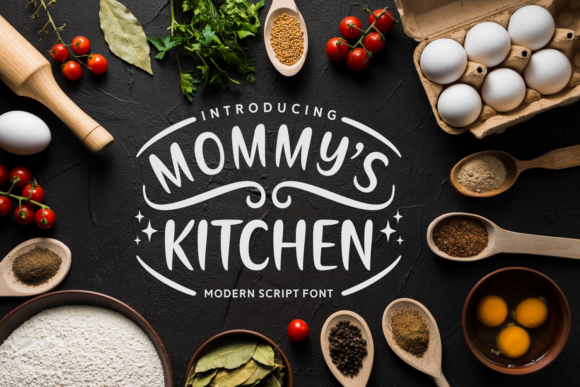 Print on Demand: Mommy's Kitchen Script & Handwritten Font By Situjuh