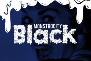 Monstrocity Black Font By Macaroni Mayhem