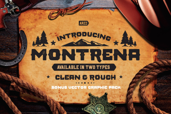 Print on Demand: Montrena Display Font By heybrinc.studio