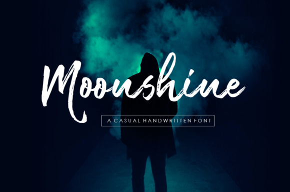 Print on Demand: Moonshine Brush Script Script & Handwritten Font By Youngtype