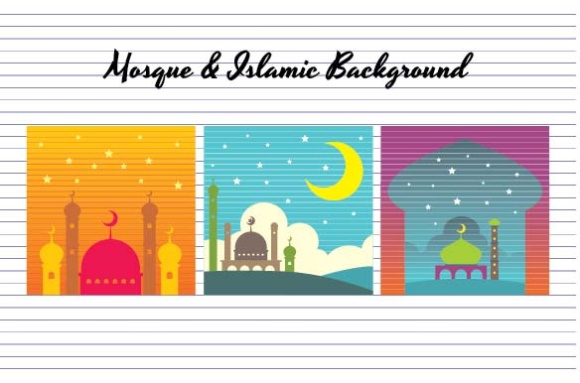 Download Free Mosque And Islamic Background Graphic By Emnazar2009 Creative for Cricut Explore, Silhouette and other cutting machines.