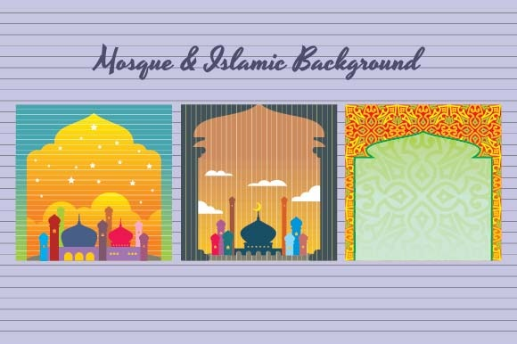 Mosque and Islamic Background Graphic Backgrounds By emnazar2009
