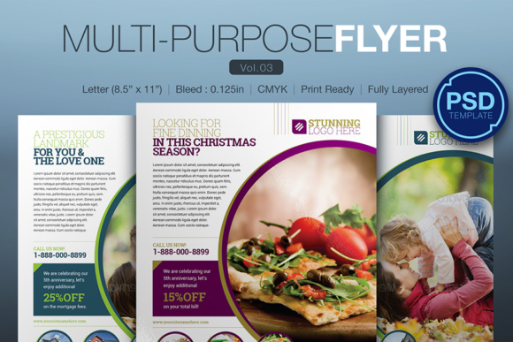 Multipurpose Flyer Graphic Print Templates By KitCreativeStudio
