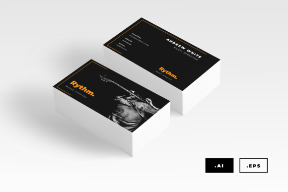 Music Business Card Graphic Print Templates By TMint