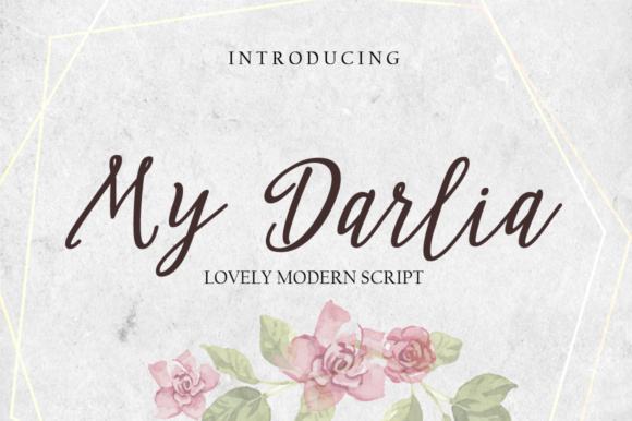 Print on Demand: My Darlia Script & Handwritten Font By fontysia - Image 1