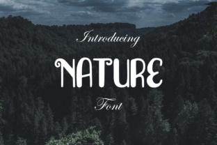 Print on Demand: Nature Display Font By LebahStudio