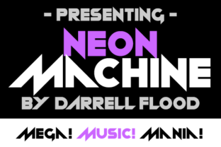 Print on Demand: Neon Machine Display Font By Dadiomouse