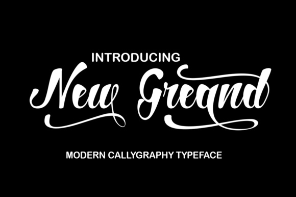 Print on Demand: New Greand Script & Handwritten Font By art design