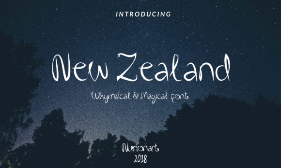 Print on Demand: New Zealand Script & Handwritten Font By nurionart