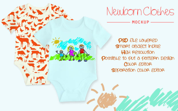 Newborn Clothes Mock Up Graphic Product Mockups By gumacreative