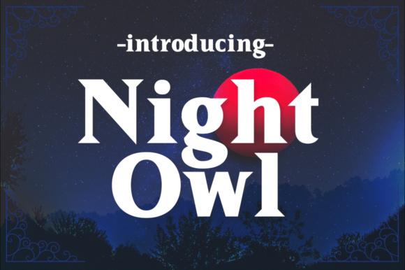 Print on Demand: Night Owl Serif Font By Silhouette America, Inc.
