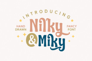 Print on Demand: Nilky & Miky Script & Handwritten Font By Keithzo (7NTypes)