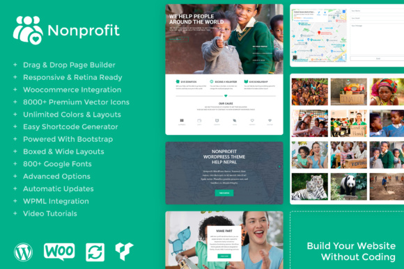 Nonprofit WordPress Theme Graphic By Visualmodo WordPress Themes Image 1