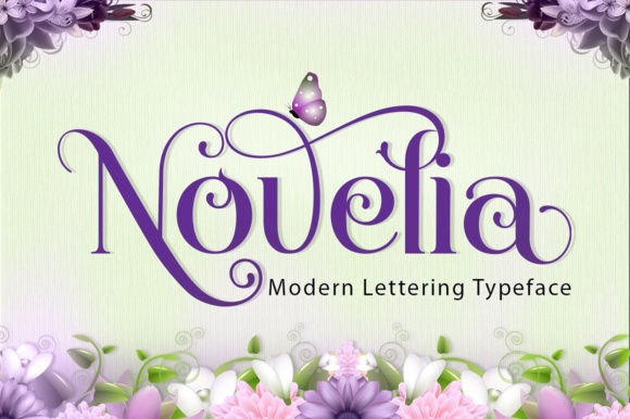 Print on Demand: Novelia Display Font By joelmaker