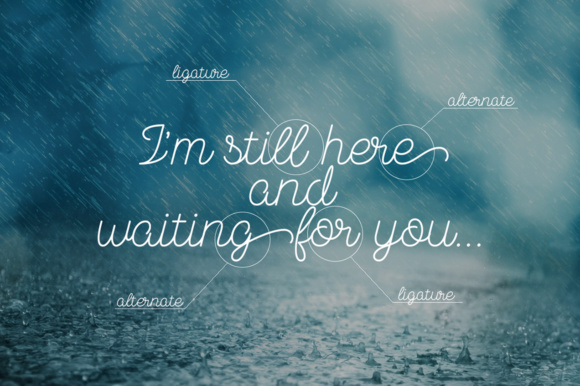 Print on Demand: November Rain Script & Handwritten Font By NREY - Image 2