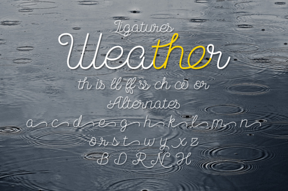 Print on Demand: November Rain Script & Handwritten Font By NREY - Image 4